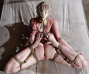 Roped, hogtied, trained, double dildoed, caned