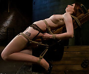 Amber tightly roped, pegged and vibed to orgasm