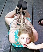 Roped, hogtied, flogged, vibrated and penetrated