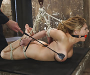 Big tit blonde suffers inescapable orgasms in extreme bondage