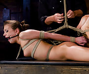 Nika gets bound, stripped and made to cum