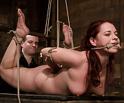Russian rope slut bound and fucked silly