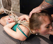 Step sister gets rough sex and strict bondage from step brother