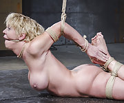 Tight rope bondage, pain and bondage